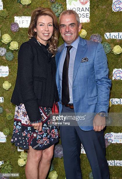 Paul McGinley and wife Alison arrive for The Horan And Rose event at The Grove on May 29 2016 in Watford England