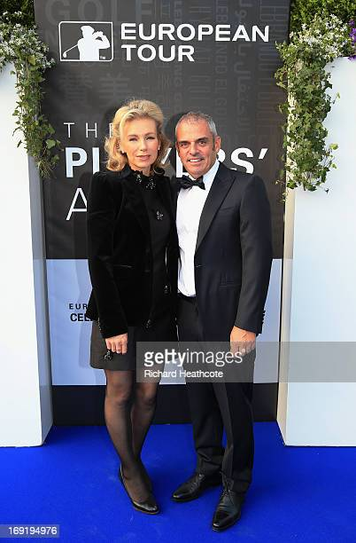 Paul McGinley of Ireland and his wife Alison arrive at the European Tour Dinner prior to the BMW PGA Championship at the Sofitel Hotel Heathrow...