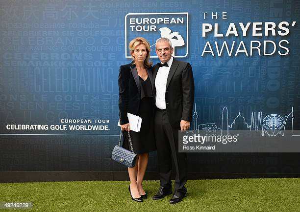 Paul McGinley of Ireland and his wife Alison attend the European Tour Players' Awards ahead of the BMW PGA Championship at the Sofitel London...