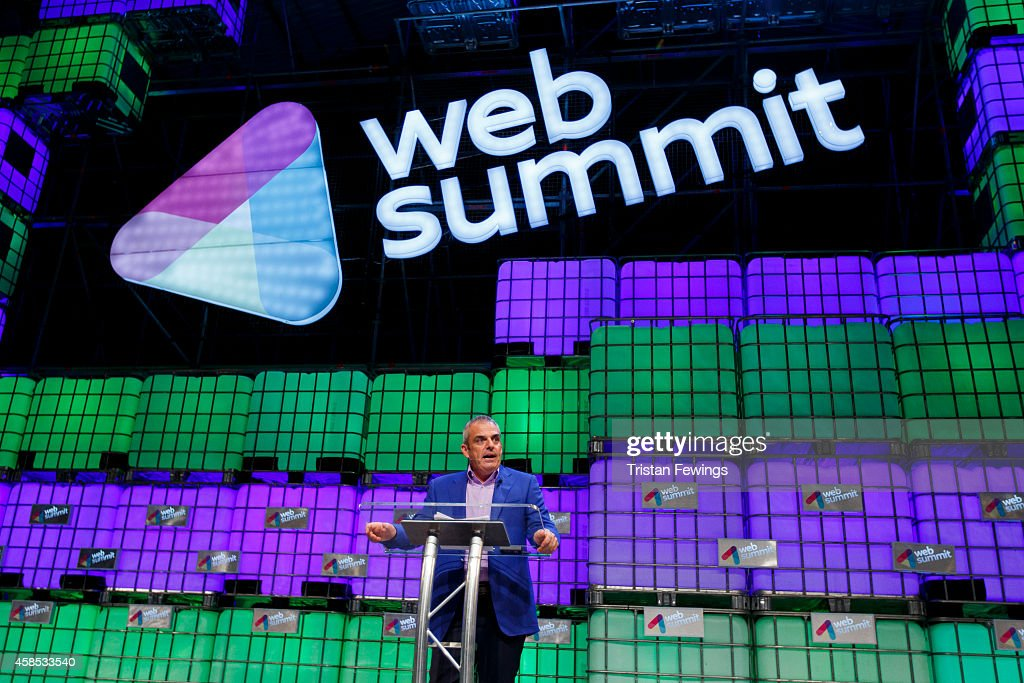 Paul McGinley, Ryder Cup Captain, Team Europe discusses The Winning Mindset on the Web Summit Centre Stage at the 2014 Web Summit on November 6, 2014 in Dublin, Ireland.