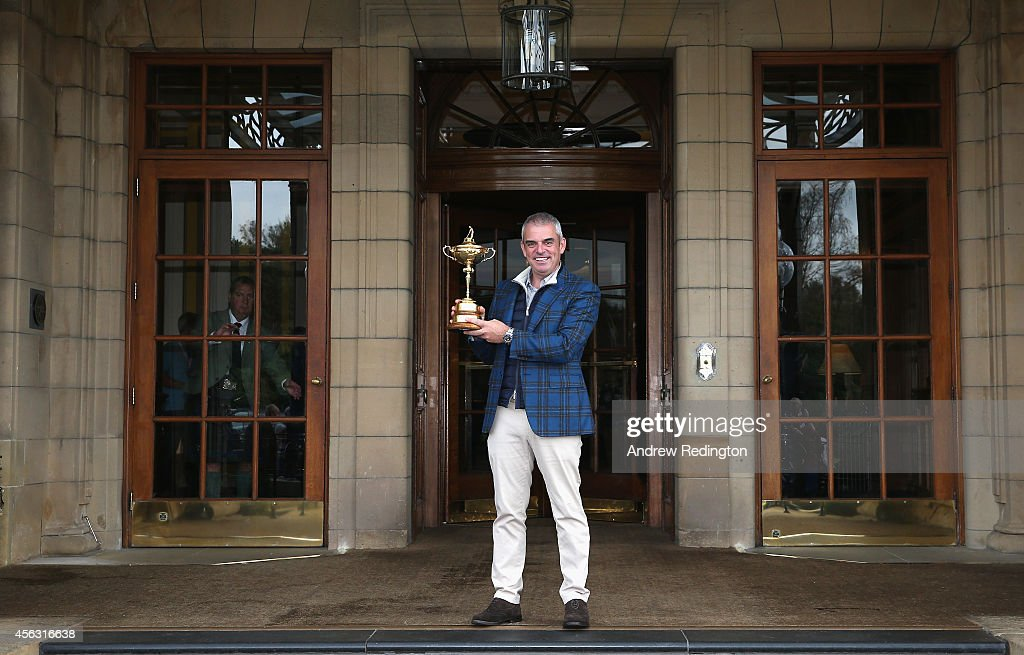 Paul McGinley, the victorious European Ryder Cup team captain, poses for a photograph at The Gleneagles Hotel on September 29, 2014 in Auchterarder, Scotland.