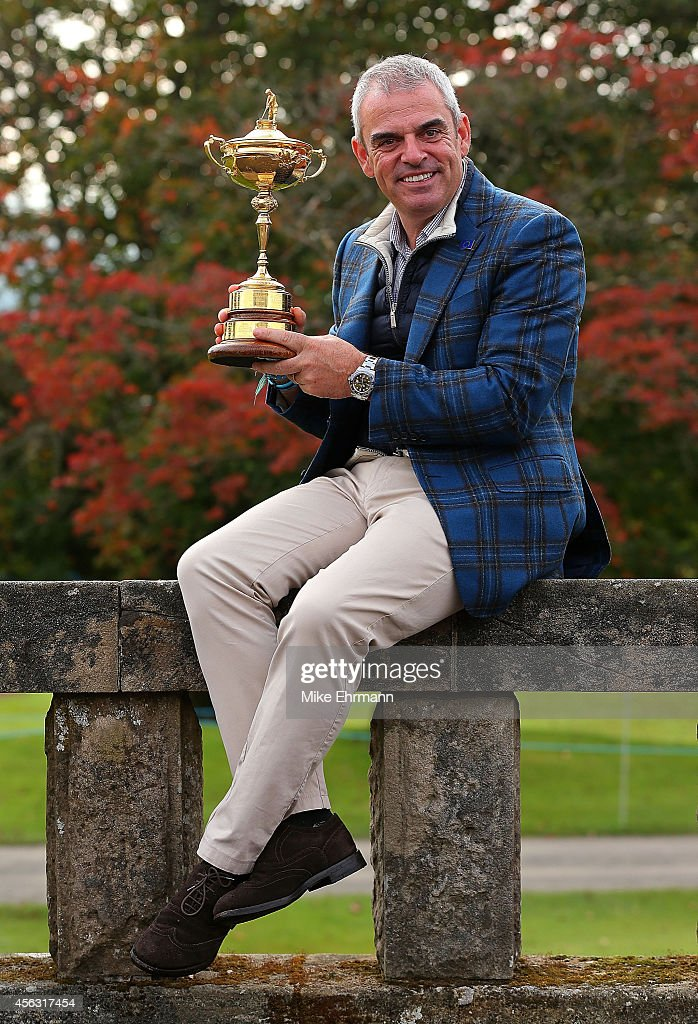 Paul McGinley, the victorious European Ryder Cup team captain, poses during a photocall at the Gleneagles hotel on September 29, 2014 in Auchterarder, Scotland.