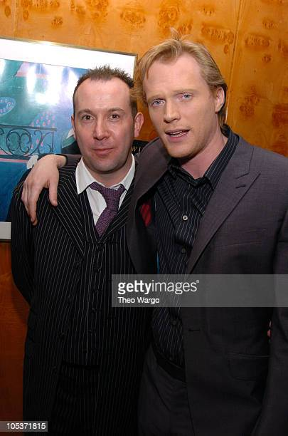 Paul McGuigan Director and Paul Bettany during New York Premiere of The Reckoning Cocktail Reception at Brasserie 8 1/2 in New York City New York...