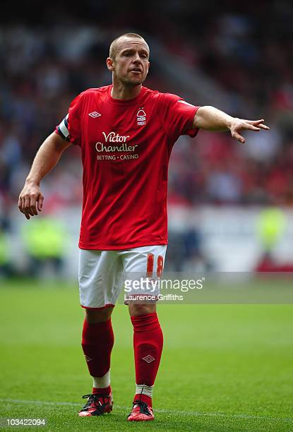 Paul McKenna of Nottingham Forest in action during the npower Championship match between Nottingham Forest and Leeds United at City Ground on August...