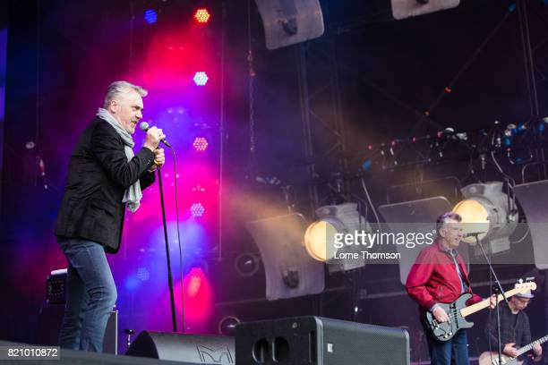 Paul McLoone and Michael Bradley of The Undertones perform on Day 2 of Rewind Festival at Scone Palace on July 22 2017 in Perth Scotland