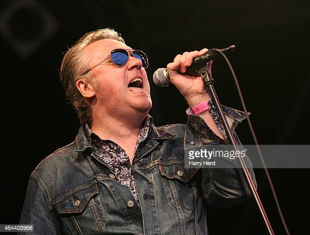 Paul McLoone of The Undertones performs on stage at Weyfest Music Festival at Rural Life Centre on August 30 2014 in Farnham United Kingdom