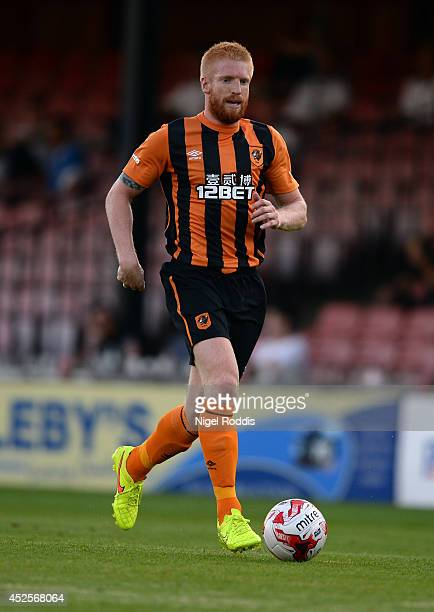Paul McShane of Hull City during the preseason friendly match between York City and Hull City at Bootham Cresent on July 23 2014 in York England