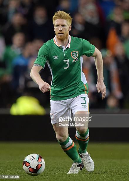 Paul McShane of the Republic of Ireland during the international friendly match between the Republic of Ireland and Slovakia at Aviva Stadium on...