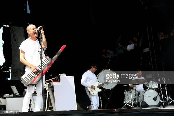 Paul Meany Jonathan Allen and David Hutchison perform in concert with Mutemath on the first day of week one of the Austin City Limits Music Festival...