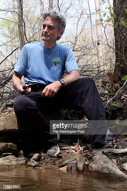 Paul Meltzer takes a water break during the Barkley Marathon on March 31 2007 at the Frozen Head Lake State Park in Caryville TN