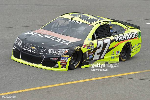 Paul Menard, driver of the Duracell/Menards Chevrolet, practices for the NASCAR Sprint Cup Series TOYOTA OWNERS 400 at Richmond International Raceway...