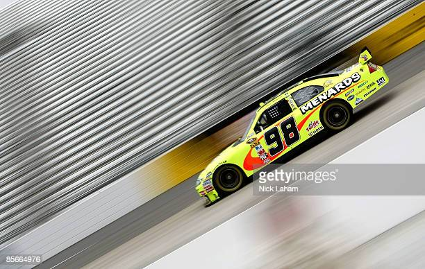 Paul Menard driver of the Johns Manville/Menards Ford drives during practice for the NASCAR Sprint Cup Series Goody�s Fast Pain Relief 500 at the...