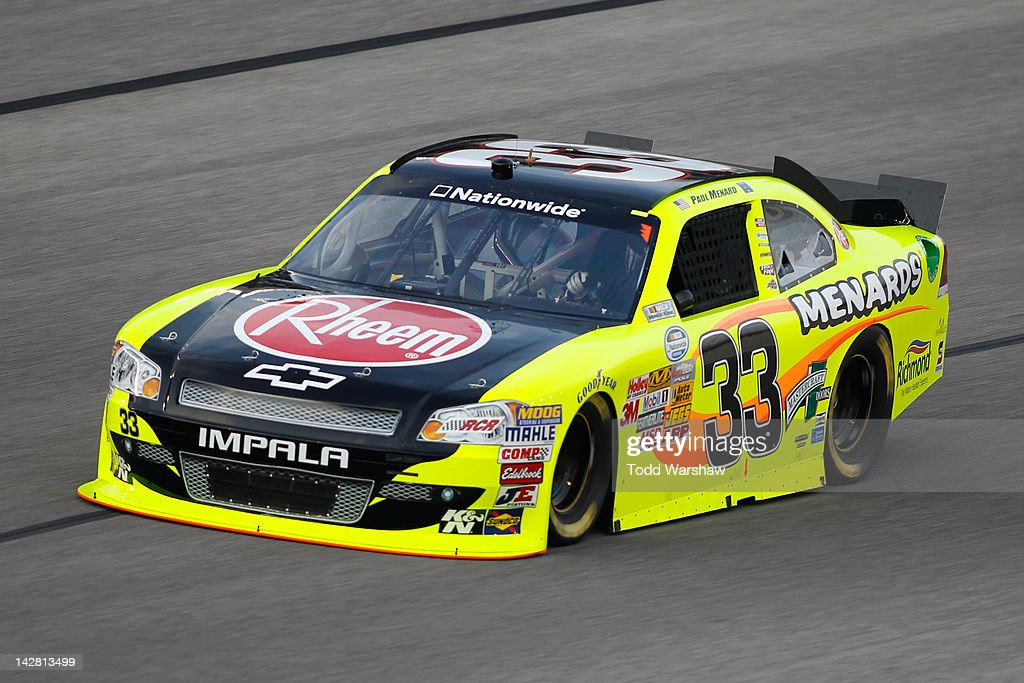 Paul Menard, driver of the Menards/Rheem Chevrolet, drives