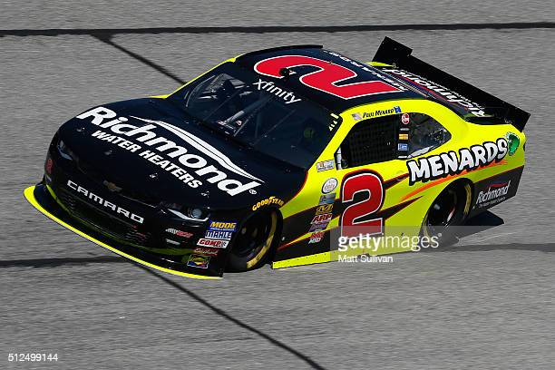 Paul Menard driver of the Richmond/Menards Chevrolet practices for the NASCAR XFINITY Series Heads Up Georgia 250 at Atlanta Motor Speedway on...