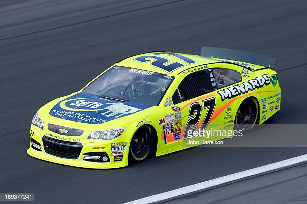 Paul Menard drives the Menards/Serta Chevrolet during practice for the NASCAR Sprint Cup Series CocaCola 600 at Charlotte Motor Speedway on May 23...