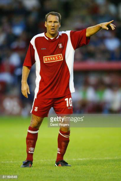 Paul Merson of Walsall in action during the preseason friendly match between Walsall and Aston Villa at Bescot Stadium on July 30 2004 in Walsall...