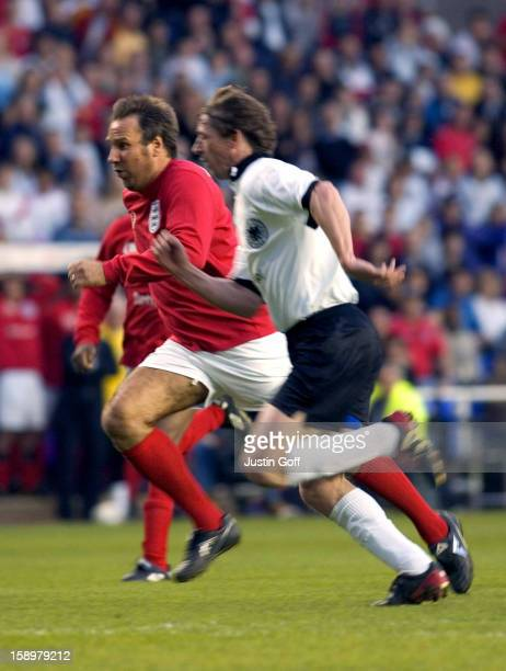 Paul Merson Takes Part In The England V Germany The Legends Charity Football Match At The Madejski Stadium In Reading