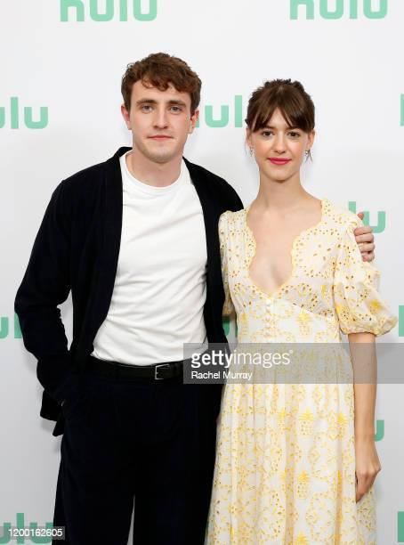 Paul Mescal and Daisy EdgarJones attend the Hulu Panel at Winter TCA 2020 at The Langham Huntington Pasadena on January 17 2020 in Pasadena California