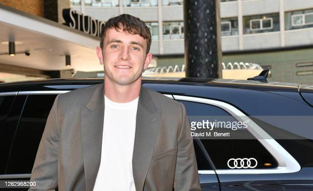 Paul Mescal arrives in an Audi at the Virgin Media British Academy Television Awards 2020 at Television Centre on July 31 2020 in London England