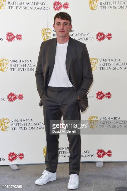 Paul Mescal attends the Virgin Media British Academy Television Award 2020 at Television Centre on July 31 2020 in London England