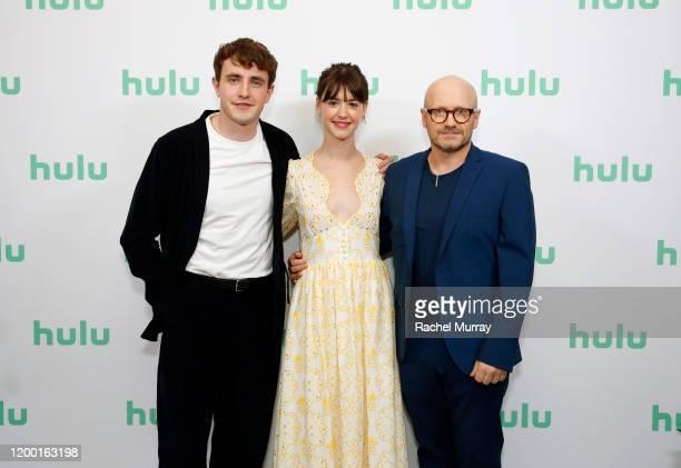 Paul Mescal Daisy EdgarJones and Lenny Abrahamson attend the Hulu Panel at Winter TCA 2020 at The Langham Huntington Pasadena on January 17 2020 in...