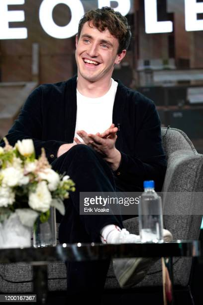 Paul Mescal speaks onstage during the Hulu Panel at Winter TCA 2020 at The Langham Huntington Pasadena on January 17 2020 in Pasadena California