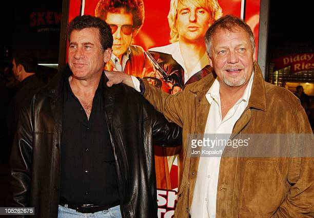 Paul Michael Glaser and David Soul during Starsky Hutch World Premiere at Mann Village Theater in Westwood California United States