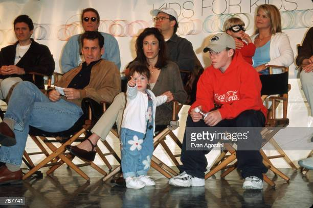 Paul Michael Glaser and his family attend the Kids For Kids AIDS Benefit April 25 1999 in New York City The event organized by Elizabeth Glaser...