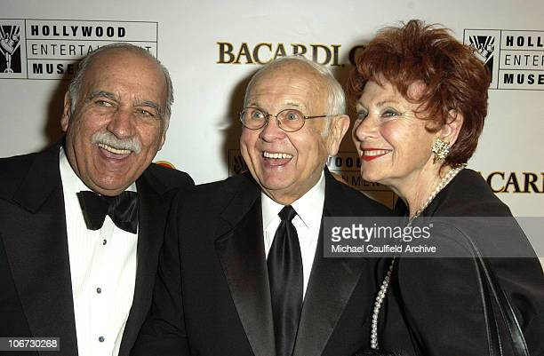 Paul Michael Johnny Grant and Marion Ross during Salute to Johnny Grant Happy 80th Birthday Staged by the Hollywood Entertainment Museum Inside at...