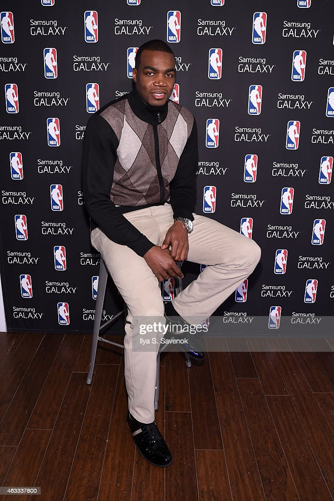Paul Millsap attends the Samsung Galaxy Studio during NBA All Star 2015 on February 12, 2015 in New York City.