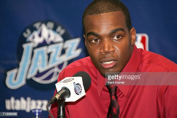 Paul Millsap is introduced by the Utah Jazz as a second round draft pick in the 2006 NBA Draft on Thursday June 29 2006 at the Utah Jazz Zion's Bank...