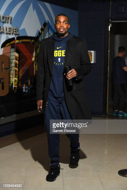 Paul Millsap of the Denver Nuggets arrives for the game on February 25 2020 at the Pepsi Center in Denver Colorado NOTE TO USER User expressly...