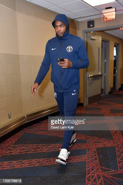 Paul Millsap of the Denver Nuggets arrives for the game on March 7 2020 at Rocket Mortgage FieldHouse in Cleveland Ohio NOTE TO USER User expressly...