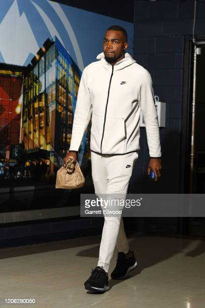 Paul Millsap of the Denver Nuggets arrives to the game against the Milwaukee Bucks on March 09 2020 at the Pepsi Center in Denver Colorado NOTE TO...