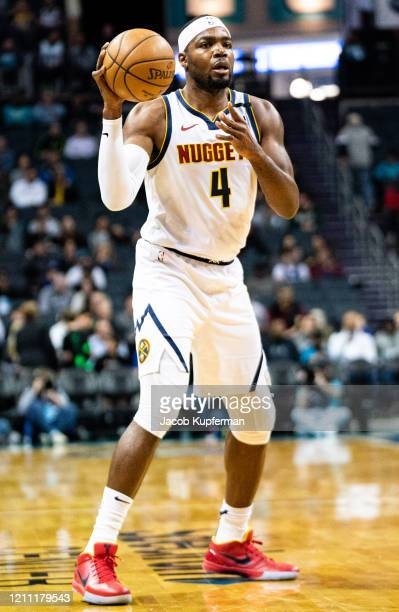 Paul Millsap of the Denver Nuggets during the first quarter during their game against the Charlotte Hornets at Spectrum Center on March 05 2020 in...