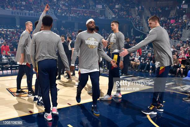 Paul Millsap of the Denver Nuggets gets introduced before the game on March 7 2020 at Rocket Mortgage FieldHouse in Cleveland Ohio NOTE TO USER User...