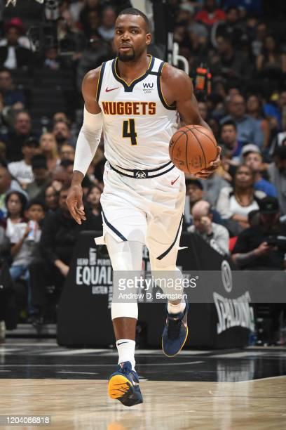 Paul Millsap of the Denver Nuggets handles the ball against the LA Clippers on February 28 2020 at STAPLES Center in Los Angeles California NOTE TO...