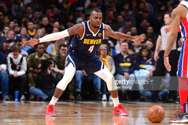 Paul Millsap of the Denver Nuggets plays defense against the Detroit Pistons on February 25 2020 at the Pepsi Center in Denver Colorado NOTE TO USER...