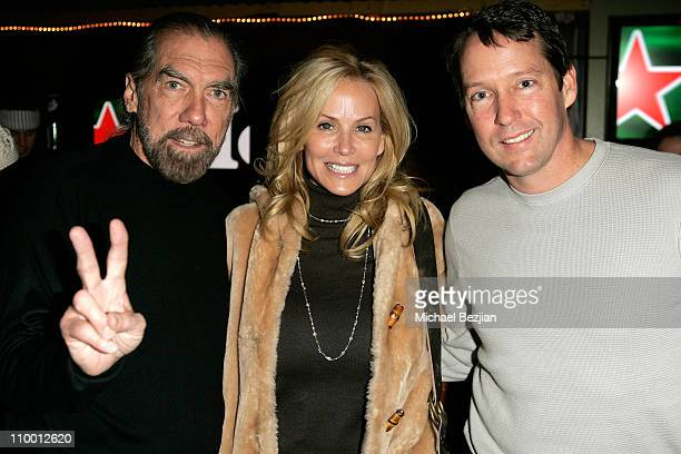 Paul Mitchell Eloise Dejoria and actor DB Sweeney attend the Red Star Awards Party at the Heineken Green Room on January 18 2008 in Park City Utah