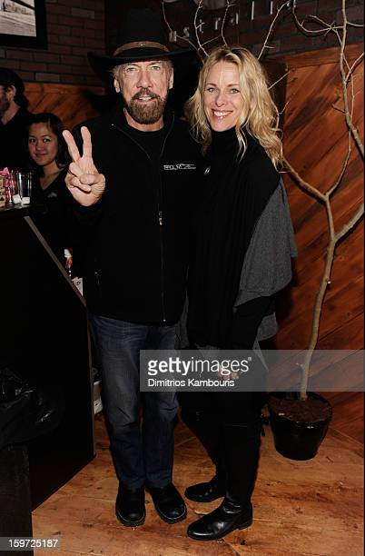 Paul Mitchell founder John Paul DeJoria and Eloise DeJoria attend Day 2 of Village At The Lift 2013 on January 19 2013 in Park City Utah
