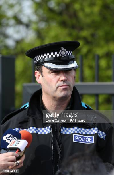 Paul Money, Chief Superintendent during a press conference outside Corpus Christi Catholic College, Neville Road, Leeds, where a 15-year-old boy has...
