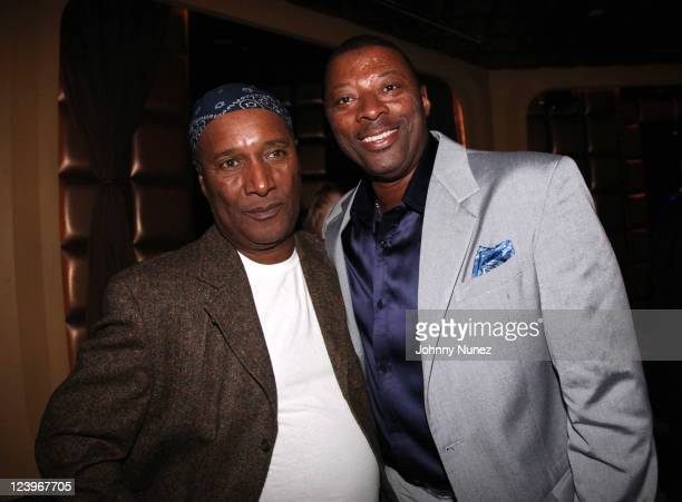 Paul Mooney and Carl Banks attend the GIII by Carl Banks The Collection launch party at Lavo on September 6 2011 in New York City