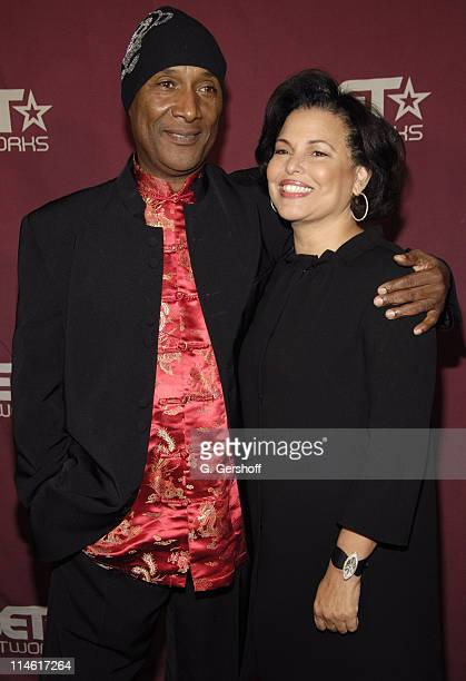 Paul Mooney and Debra Lee, Chairman and CEO of BET