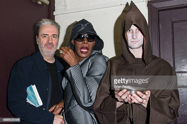 Paul Morley and Grace Jones at Gutterdammerung Live Fan Event at The Forum on November 12 2015 in London England