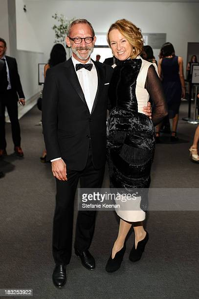 Paul Morris and Annie Philbin attend attend Hammer Museum 11th Annual Gala In The Garden With Generous Support From Bottega Veneta October 5 Los...