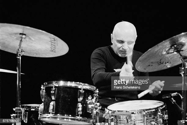 Paul Motian, drums, performs on May 5th 1996 at the BIM huis in Amsterdam, Netherlands.