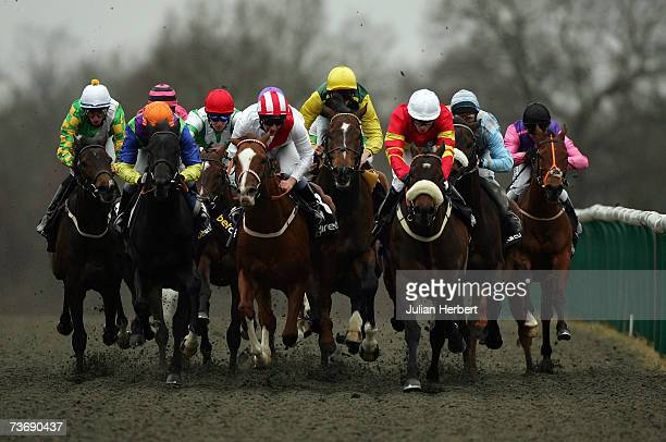 Paul Mulrennan has Gentlemans Deal handily placed in the back straight before going on to land The betdirect Winter Derby Race run at Lingfield...