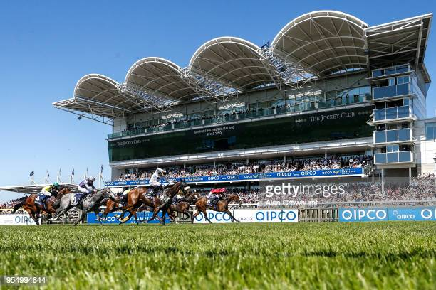 Paul Mulrennan riding Mabs Cross win The Longholes Palace House Stakes at Newmarket Racecourse on May 5 2018 in Newmarket United Kingdom