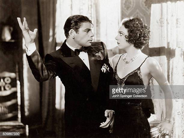 Paul Muni and Ann Dvorak play Tony and Cesca Camonte in a scene from the 1932 movie Scarface
