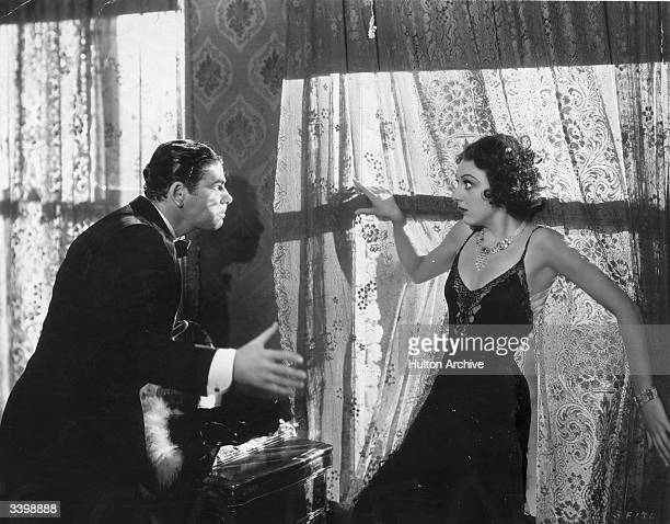Paul Muni as Tony Camonte and Ann Dvorak as his sister Cesca Camonte in 'Scarface' a film a clef based on the life of mob boss Al Capone...